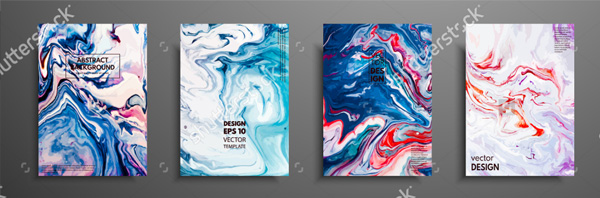 Abstract Painting Brochure Templates