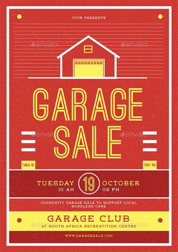 Advertisement Garage Sale PSD Flyer