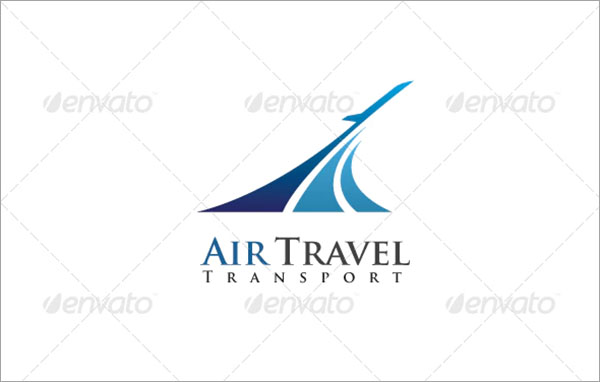 Air Travel Transport Logo Design Template