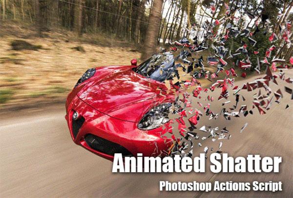 Animated Shatter JSX Photoshop