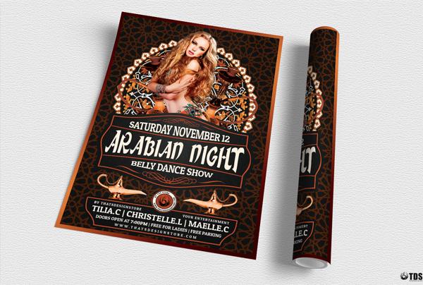 Arabian Nights Flyer Template