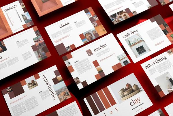 Art Gallery Brochure Design Template