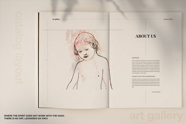 Art Gallery Catalog and Brochure