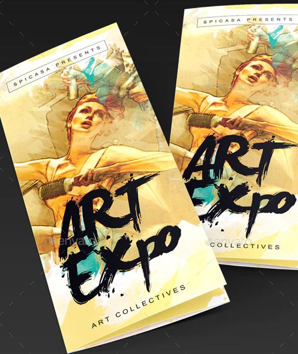 Art Show Trifold Brochure Template