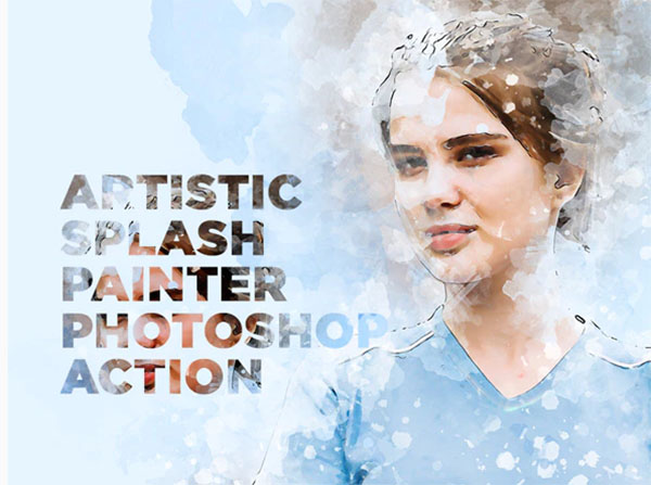 Artistic Splash Painter Photoshop Action