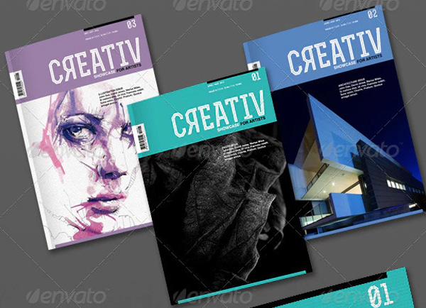 Artists Magazine Brochure Template