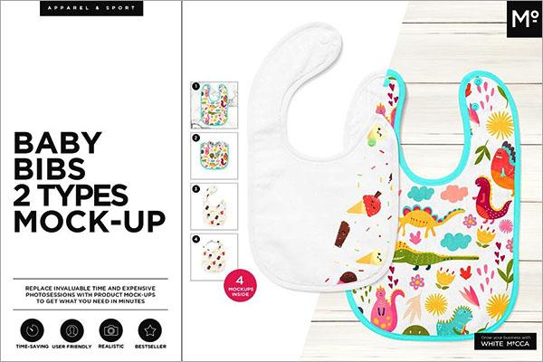 Baby Bandana Bib Mockup Set 2405255 Free Download - oukas info