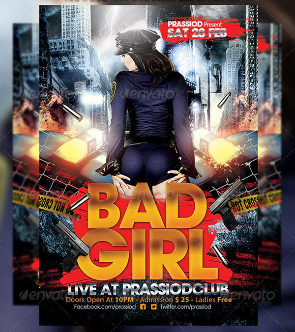 Bad Girl Flyer Templates