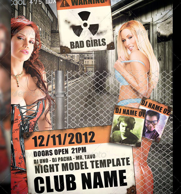 Bad Girl Flyer