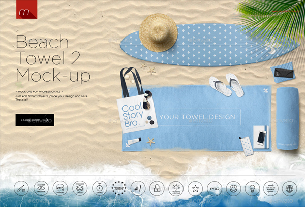 Beach Towel 2 Hero Image Mock-up