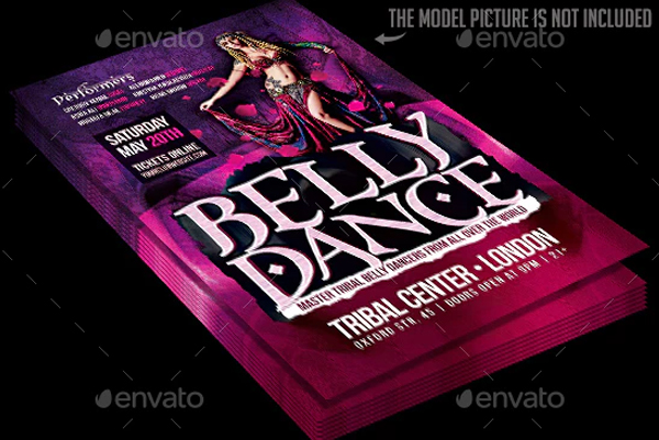 Belly Dance Event Flyer