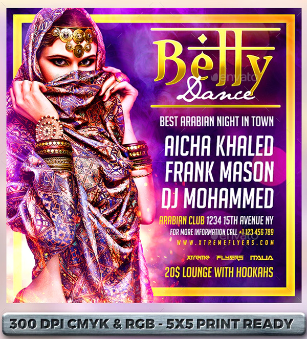 Belly Dance Flyer Templates