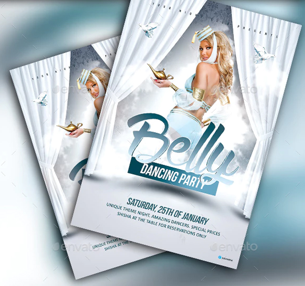 Belly Dance Party Editable Template