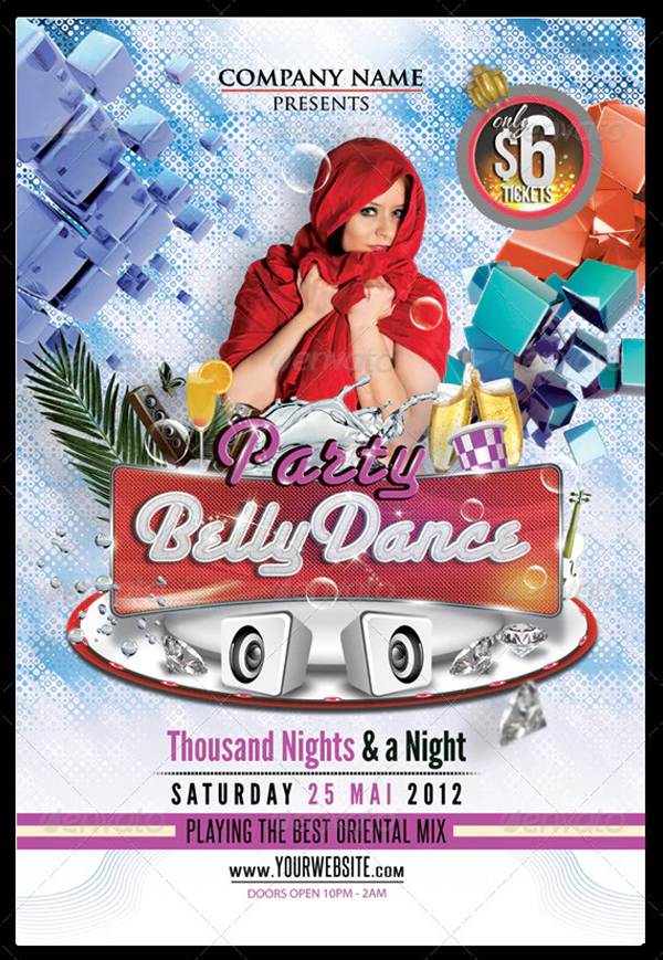 Belly Dance Party Flyer Printable Template