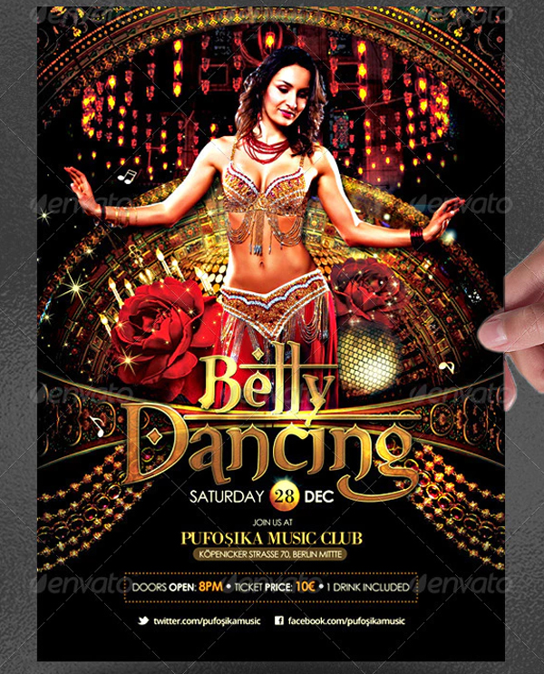 Belly Dancing Poster and Flyer Template