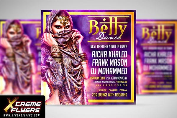 Best Belly Dance Flyer Template