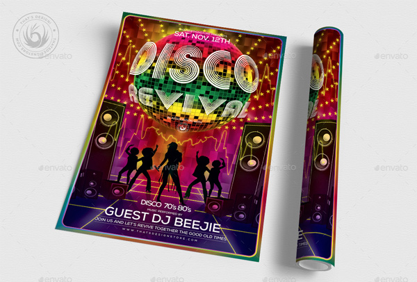 Best Disco Revival Flyer Template