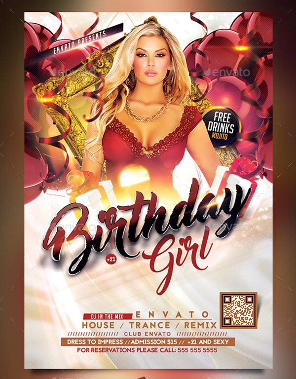 Birthday Girl Flyer
