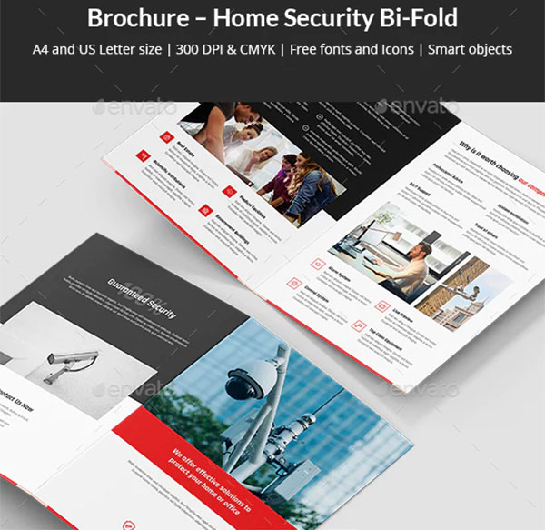 Brochure Home Security Bi-Fold Template