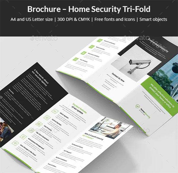 Brochure Home Security Tri-Fold Template