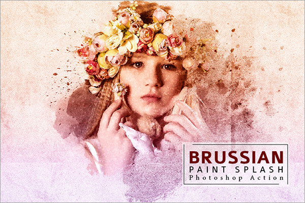 Brussian Paint Splash Photoshop Action