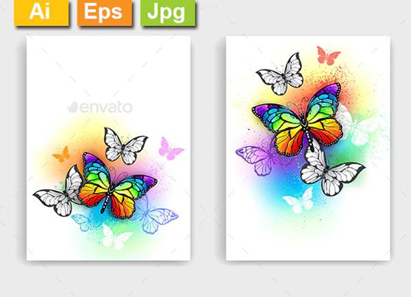 Butterflies Painting Brochure Templates