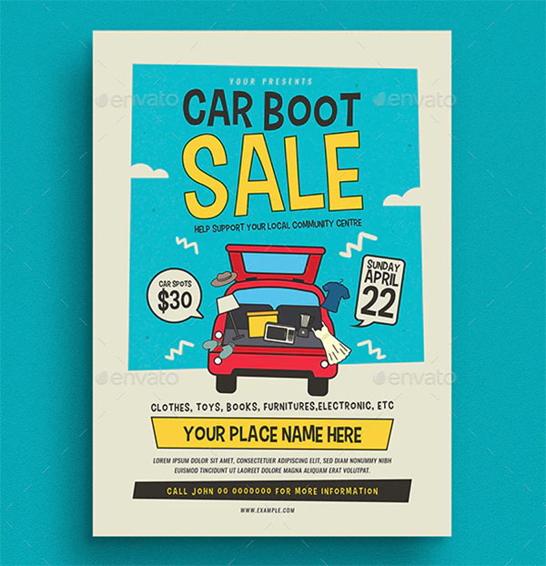 Car Boot Sale Event Flyer