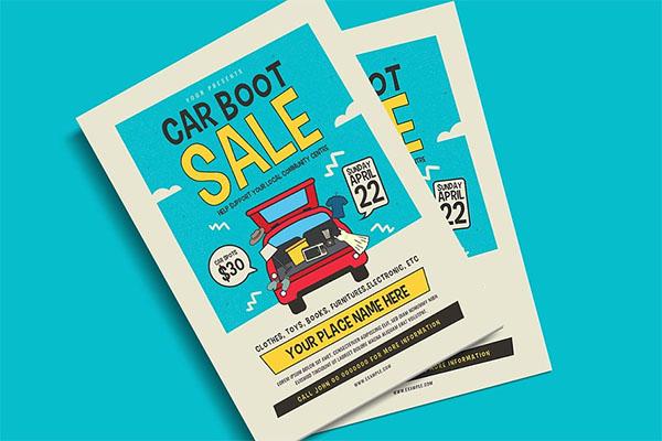 Car Boot Sale Event PSD Flyer