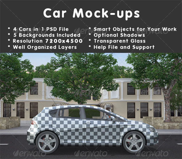 Car VehiclePSD Mockups