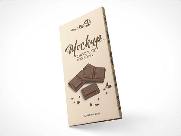 Chocolate BarFree PSD Packing Mockups