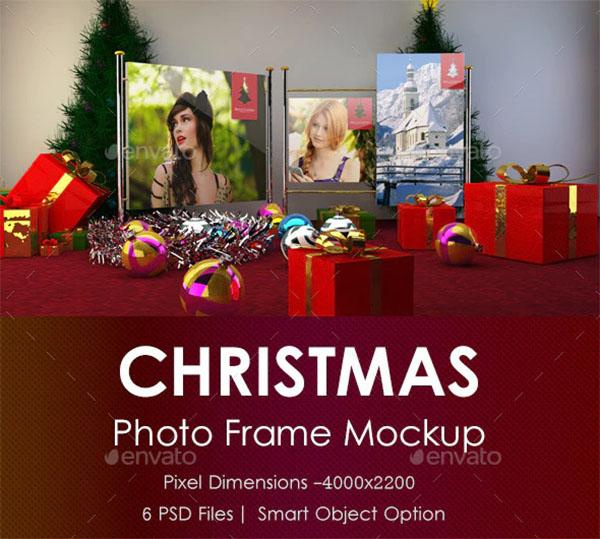 Christmas Photo Frame Mockup