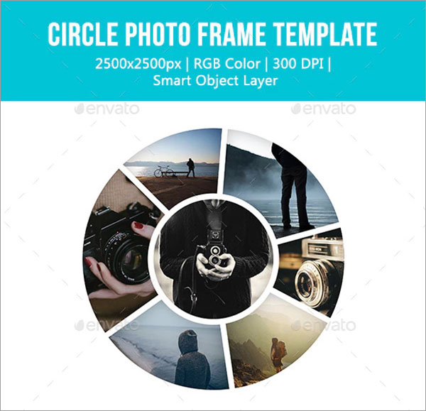 Circle Photo Frame Templates