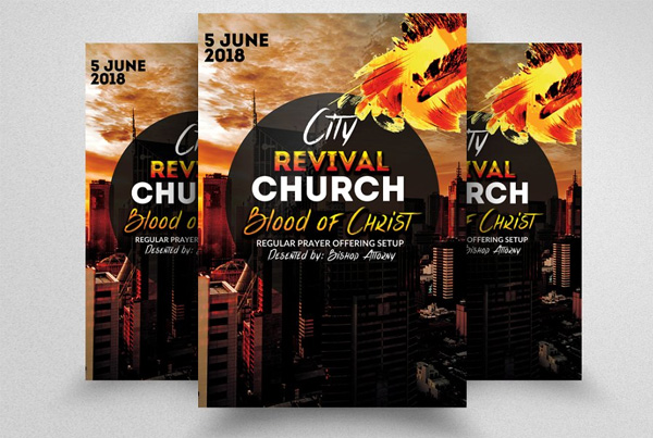 City Revival Church Flyers