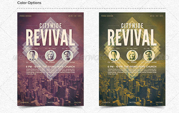 Citywide Best Revival Flyer Templates
