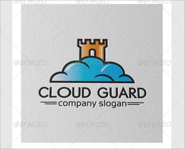 Cloud Guard Logo PSD Design