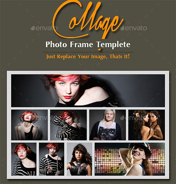 College Photo Frame Templete