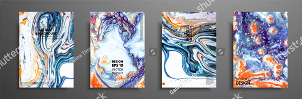 Colorful Abstract Painting Brochure Design Template
