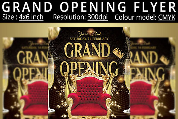 Colour Grand Opening Flyer