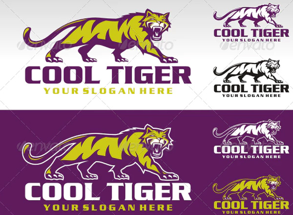 Cool Tiger Logo Design