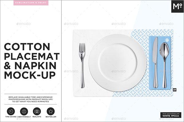 Cotton Placemat & Napkin Mock-up