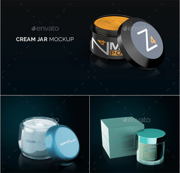 Cream Jar Packaging Mockup