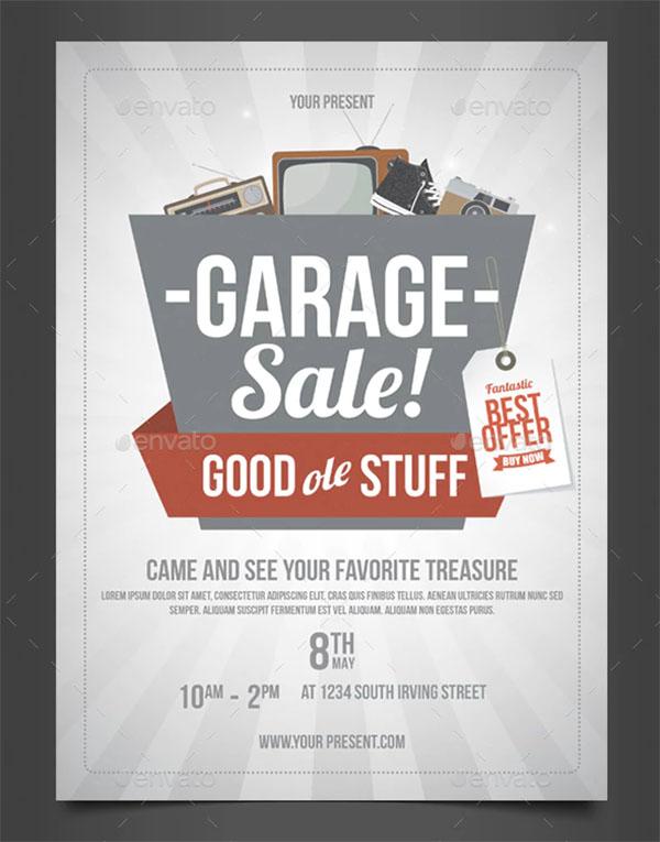 Creative Garage Sale PSD Flyer