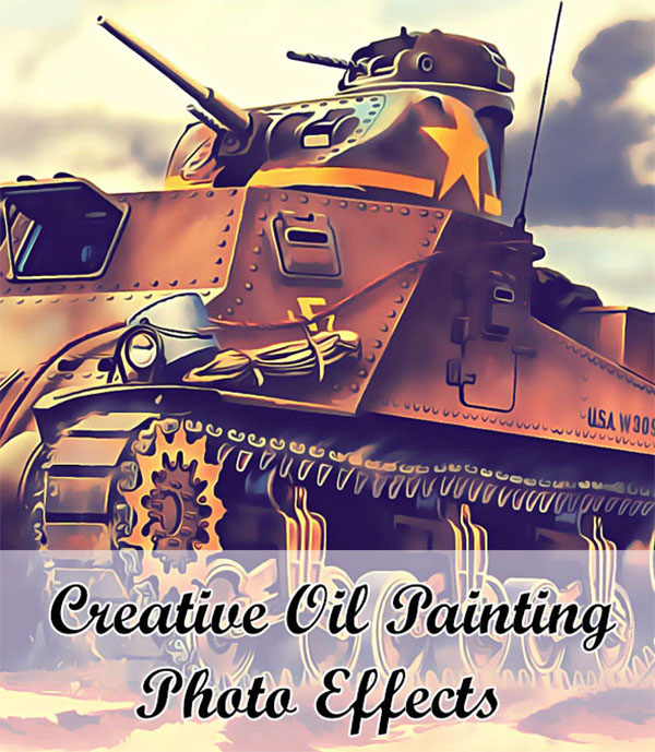 Creative Oil Paint Photoshop Actions