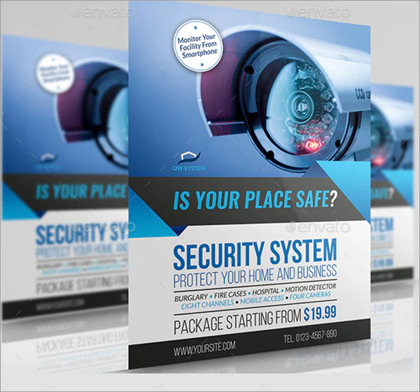 Creative Security System Flyer Template