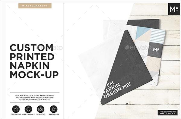 Custom Printed Napkin Mockup Design