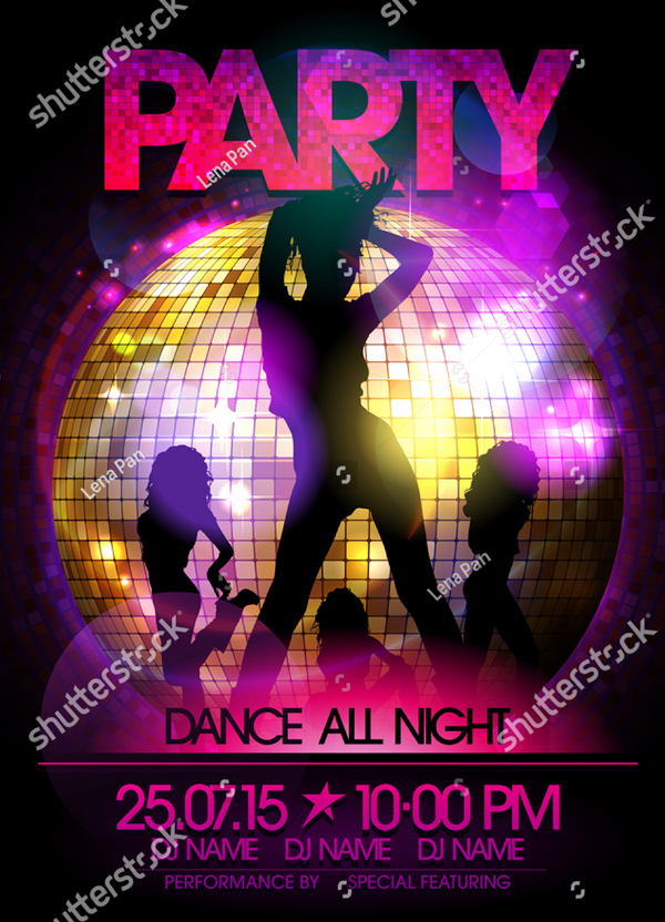 Dance Girls Party Flyer