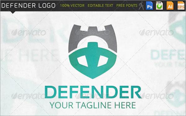 Defender Shield Guard Logo Template