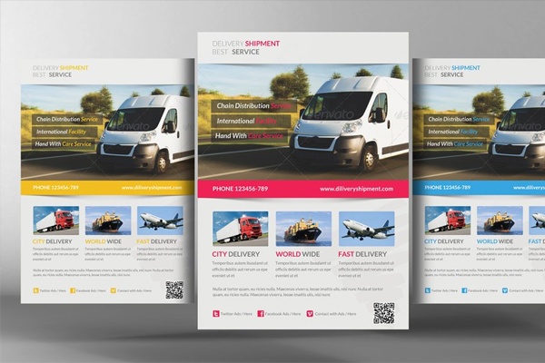 Delivery Shipment Psd Flyer Template