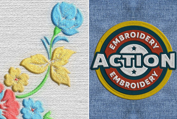 Digital Embroidery Photoshop Action