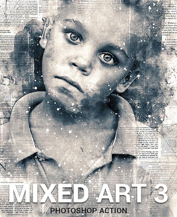 Digital Mixed Art Photoshop Action